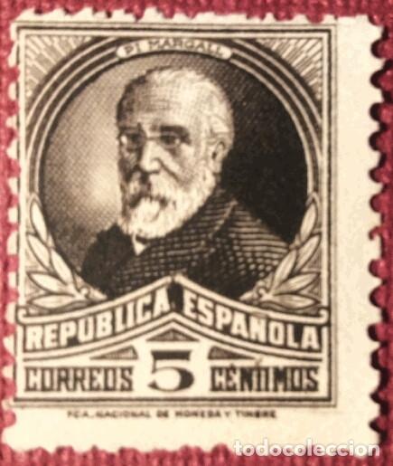 REPÚBLICA ESPAÑOLA. 1931-32, PERSONAJES. 5 CTS. CASTAÑO NEGRO (Nº 655 EDIFIL). (Sellos - España - II República de 1.931 a 1.939 - Nuevos)