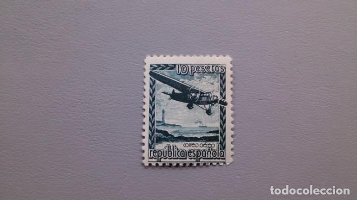 ESPAÑA - 1939 - II REPUBLICA - EDIFIL NE 38 - MNH** - NUEVO - AEREO - AVION EN VUELO - VALOR CAT.50€ (Sellos - España - II República de 1.931 a 1.939 - Nuevos)