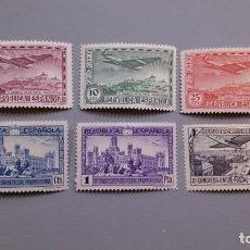 Sellos: ESPAÑA - 1931 - II REPUBLICA - EDIFIL 614/619 - SERIE COMPLETA - MH* - NUEVOS.. Lote 146260974