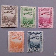 Sellos: ESPAÑA - 1931 - II REPUBLICA - EDIFIL 650/654 - SERIE COMPLETA - MH* - NUEVOS - VALOR CATALOGO 120€. Lote 146263710