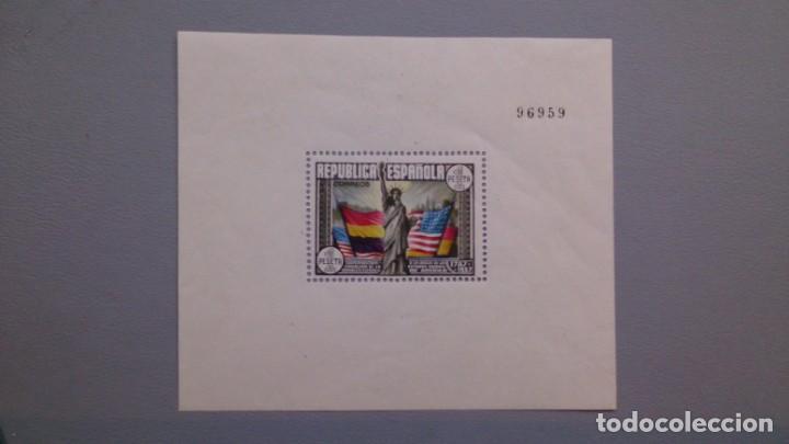 ESPAÑA - 1938 - II REPUBLICA - HOJITA EDIFIL 764 - MH* - NUEVO - CONSTITUCION DE LOS EE.UU. (Sellos - España - II República de 1.931 a 1.939 - Nuevos)