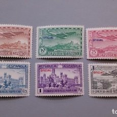 Sellos: ESPAÑA - 1931 - II REPUBLICA - EDIFIL 630/635 - SERIE COMPLETA - MH* - NUEVOS.. Lote 146268526