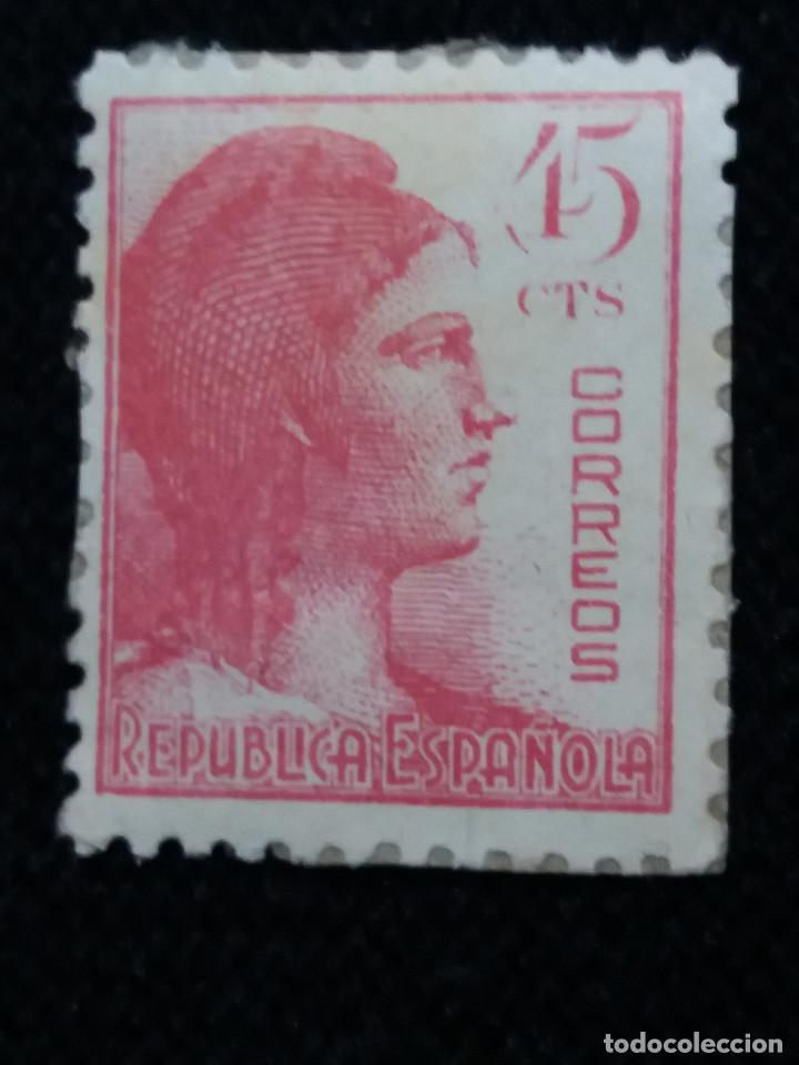 SELLO REPUBLICA ESPAÑOLA, 45 CENT, NUEVO AÑO 1936 (Sellos - España - II República de 1.931 a 1.939 - Nuevos)
