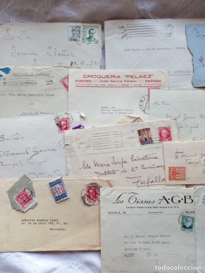 Sellos: Sobres y cartas epoca republica y guerra civil. Filatelia.sellos.españa.franco.republicanos - Foto 2 - 146726006