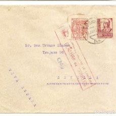 Sellos: HISTORIA POSTAL ESPAÑA ANDALUCIA CARTA CÓRDOBA-SEVILLA 1937 NL1271. Lote 147435610