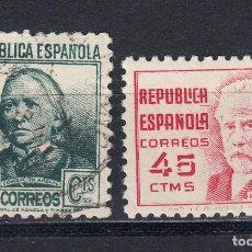 Sellos: 1938 EDIFIL 737** NUEVO SIN CHARNELA Y 733 USADO. CIFRA Y PERSONAJES. Lote 147532746