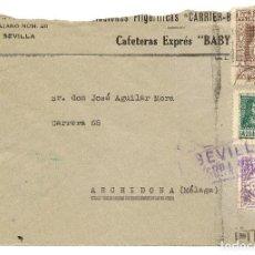 Sellos: HISTORIA POSTAL ESPAÑA ANDALUCIA CARTA SEVILLA - ARCHIDONA 1938 NL1284. Lote 147533942