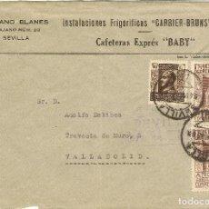 Sellos - Historia Postal Carta Sevilla Sevilla-Valladolid 1938 NL1318 - 148271690