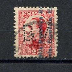 Sellos: REPÚBLICA ESPAÑOLA, SELLO, ALFONSO XIII, SOBRECARGADOS, 1931, PERFORADO B.V.. Lote 148574946