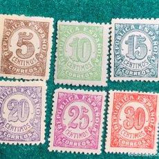Sellos: 1938. CIFRAS. BIEN CENTRADOS. Nº 745/50. Lote 148580013
