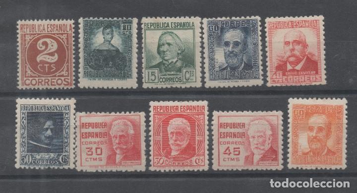 ESPAÑA=EDIFIL Nº 731/40_CIFRA Y PERSONAJES_CATALOGO 42 EUROS_REF:0077 (Sellos - España - II República de 1.931 a 1.939 - Nuevos)