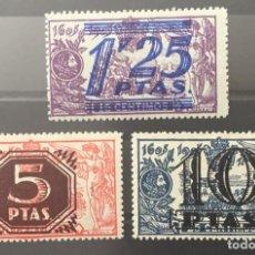 Sellos: 1939-ESPAÑA SELLOS DE 1905 HABILITADOS - NE35/37*- NO EMITIDOS - CERTIFICADO CEM. Lote 150357086