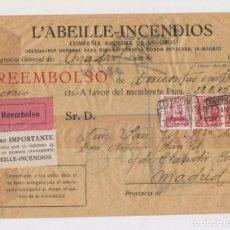 Sellos: SOBRE CERTIFICADO REEMBOLSO. MADRID, 1936. Lote 150532810