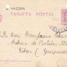 Sellos: TARJETA POSTAL: 1931 MONTORO ( CORDOBA ) - FABRICA PISTOLAS STAR / EIBAR (GUIPUZCOA ). Lote 151072722