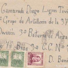 Timbres: CARATULA SOBRE: 1º GRUPO ARTILLERIA - 37 DIVISION / DON BENITO ( BADAJOZ ). Lote 151073946