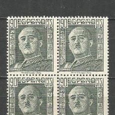 Sellos: ESPAÑA GENERAL FRANCO EDIFIL NUM. 1060 ** NUEVO SIN FIJASELLOS EN BLOQUE DE 4. Lote 151433114
