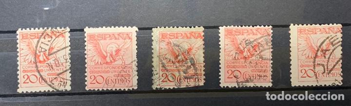 AÑO 1932. FICHA 5 UDS. PEGASO SIN Nº DE CONTROL. Nº 676 (Sellos - España - II República de 1.931 a 1.939 - Usados)