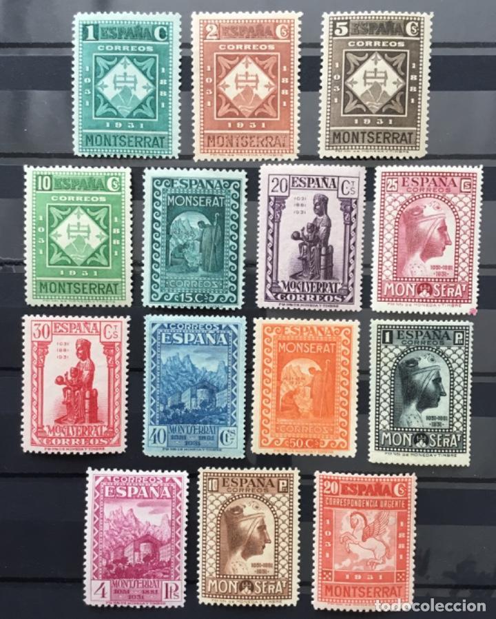 ESPAÑA 1931 - IX CENTENARIO FUNDACIÓN MONASTERIO DE MONTSERRAT - EDIFIL 636/649** MNH. CERTIFICADO (Sellos - España - II República de 1.931 a 1.939 - Nuevos)