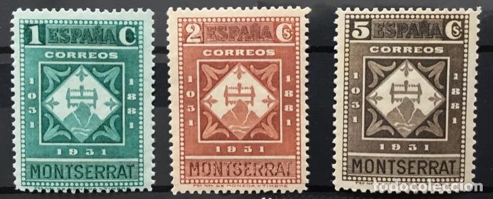 Sellos: España 1931 - IX centenario Fundación monasterio de Montserrat - Edifil 636/649** MNH. Certificado - Foto 2 - 152728870