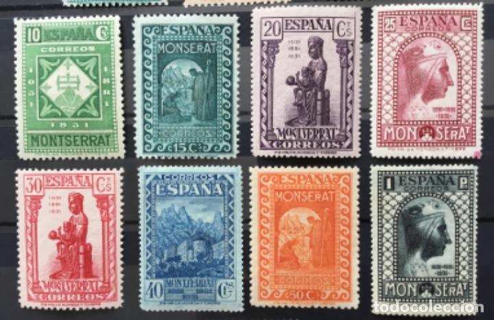 Sellos: España 1931 - IX centenario Fundación monasterio de Montserrat - Edifil 636/649** MNH. Certificado - Foto 3 - 152728870