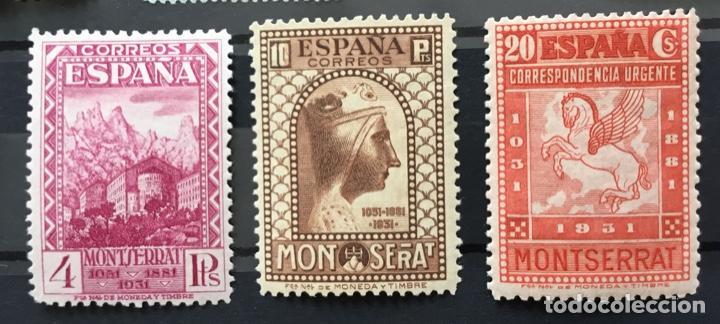 Sellos: España 1931 - IX centenario Fundación monasterio de Montserrat - Edifil 636/649** MNH. Certificado - Foto 4 - 152728870