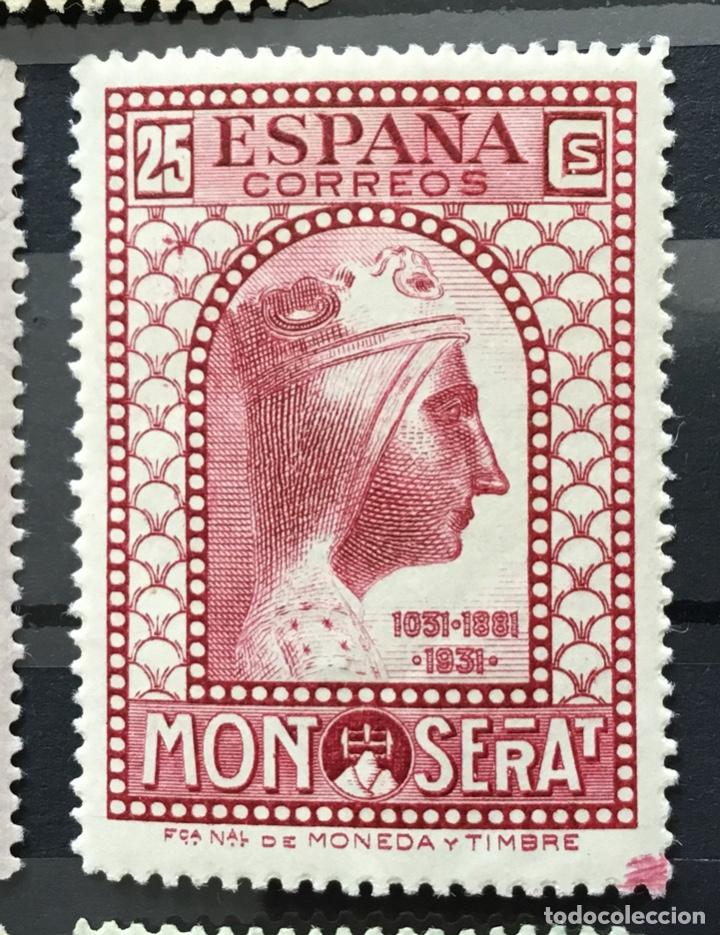 Sellos: España 1931 - IX centenario Fundación monasterio de Montserrat - Edifil 636/649** MNH. Certificado - Foto 11 - 152728870