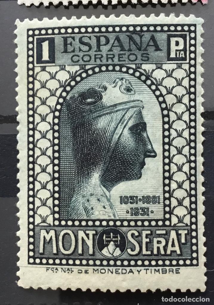 Sellos: España 1931 - IX centenario Fundación monasterio de Montserrat - Edifil 636/649** MNH. Certificado - Foto 15 - 152728870