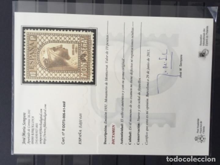 Sellos: España 1931 - IX centenario Fundación monasterio de Montserrat - Edifil 636/649** MNH. Certificado - Foto 35 - 152728870