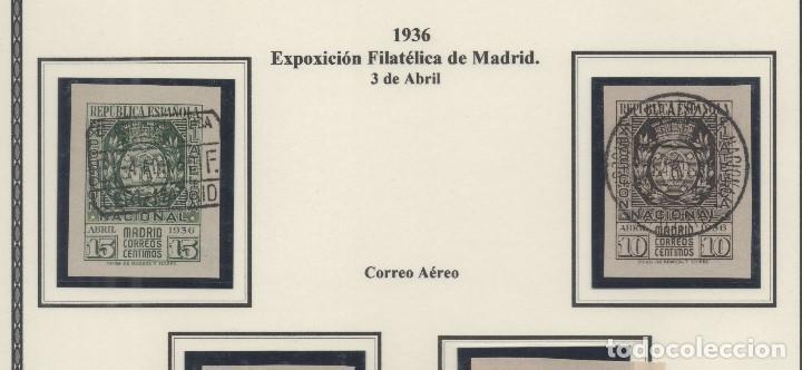 ESPAÑA=EDIFIL Nº 727/28_EXPOSICION FILATELICA DE MADRID_CATALOGO 140 EUROS_PRECIOSOS (Sellos - España - II República de 1.931 a 1.939 - Usados)