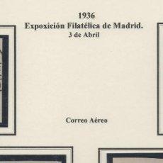 Sellos: ESPAÑA=EDIFIL Nº 727/28_EXPOSICION FILATELICA DE MADRID_CATALOGO 140 EUROS_PRECIOSOS. Lote 153352290