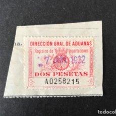 Sellos: DIRECCIÓN GENERAL DE ADUANAS. Lote 153486882
