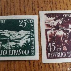 Sellos: ESPAÑA:787/88A, MNH Y MH. Lote 155782992
