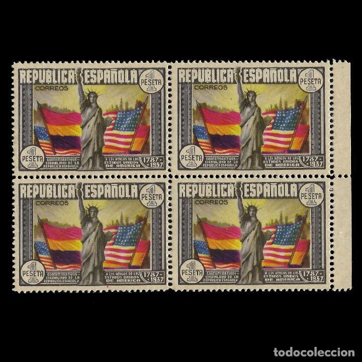 II REPÚBLICA.1938.ANIV. CONST. EEUU.1P.BLQ 4.MNH EDIFIL 763 (Sellos - España - II República de 1.931 a 1.939 - Nuevos)