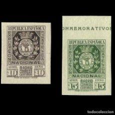 Sellos: SELLOS. ESPAÑA. II REPÚBLICA. 1936. EXPO FILATÉLICA DE MADRID.SERIE EN NUEVO** EDIFIL. Nº727-728. Lote 155879598