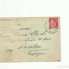 Sellos: POSTAL CIRCULADA 1934 DE COLLONGES FRANCIA A BARCELONA VER FOTO. Lote 156027102