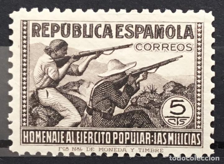 Sellos: España 1938 - Homenaje al ejercito popular - Edifil 792/800** MNH - Foto 2 - 156218474