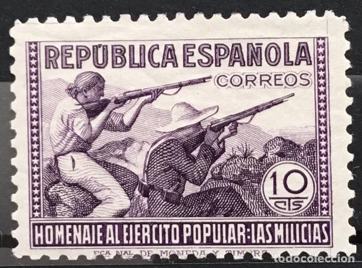 Sellos: España 1938 - Homenaje al ejercito popular - Edifil 792/800** MNH - Foto 3 - 156218474
