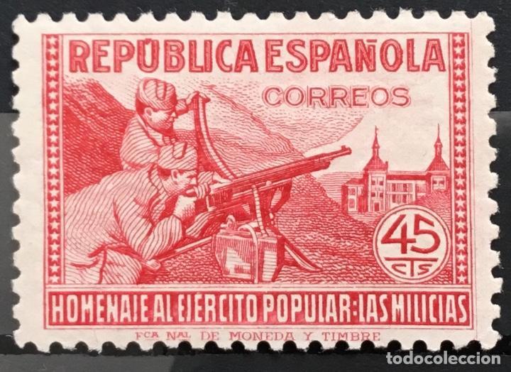 Sellos: España 1938 - Homenaje al ejercito popular - Edifil 792/800** MNH - Foto 5 - 156218474