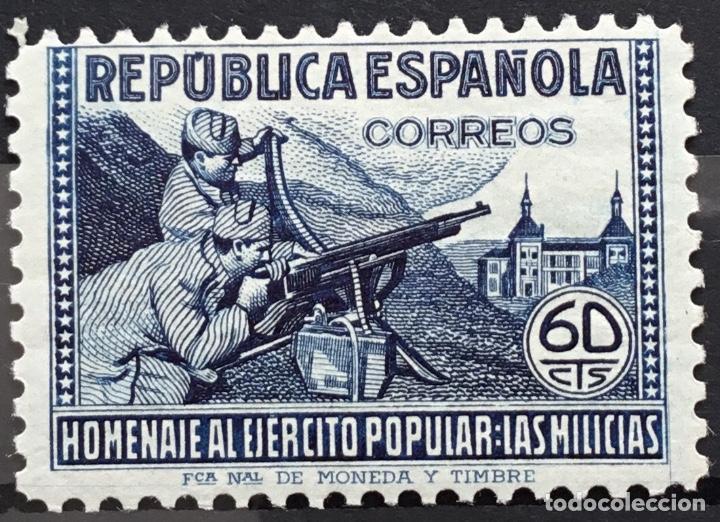 Sellos: España 1938 - Homenaje al ejercito popular - Edifil 792/800** MNH - Foto 6 - 156218474