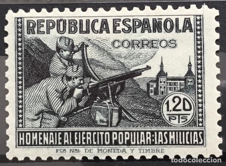 Sellos: España 1938 - Homenaje al ejercito popular - Edifil 792/800** MNH - Foto 7 - 156218474