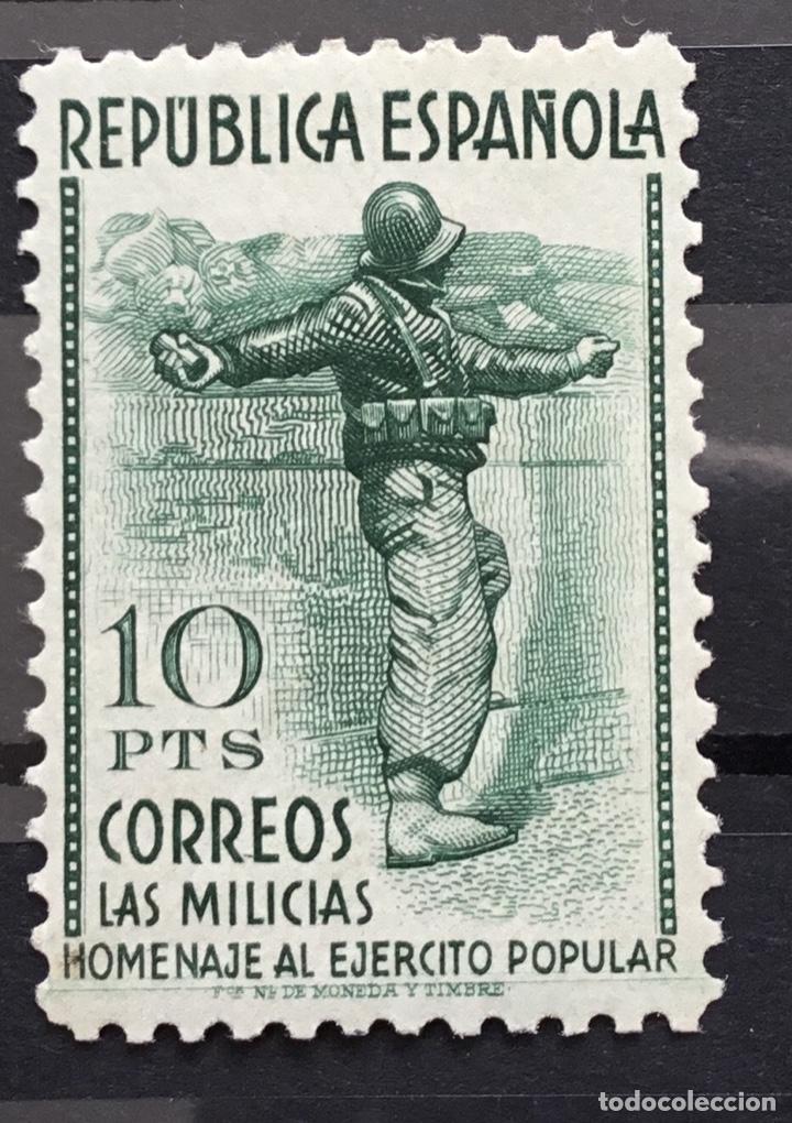 Sellos: España 1938 - Homenaje al ejercito popular - Edifil 792/800** MNH - Foto 10 - 156218474