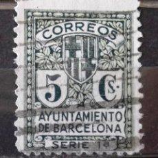 Sellos: BARCELONA, EDIFIL 9NA, USADO, SIN LETRA DE SERIE. ESCUDO.. Lote 156869866