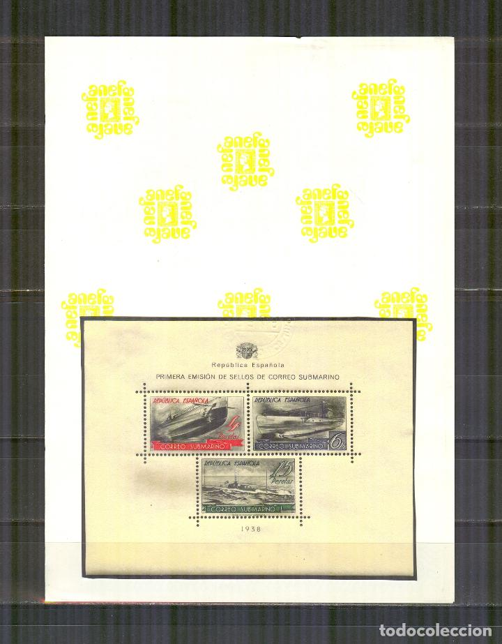 Sellos: 781 HOJA CORREO SUBMARINO 1938 NUEVO SIN CHARN. CERTIFICADO CEM - Foto 4 - 156990042