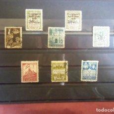 Sellos: AYUNTAMIENTO DE BARCELONA.LOTE 1O SELLOS(2 CON SOBRECARGA TELEGRAFOS). Lote 157015942