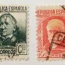 Sellos: SELLOS PERSONAJES 1936, NUM 733 Y 734. Lote 160483109