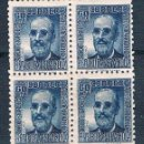 Sellos: ESPAÑA 1936/1938 FERMÍN SALVOECHEA BLOQUES DE 4 ** VER EXPLICACIÓN Y FOTOS. Lote 160523050