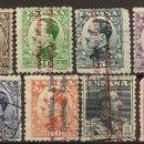 Sellos: ESPAÑA EDIFIL 593/603 (º) ALFONSO XIII SOBRECARGADOS REPÚBLICA SERIE COMPLETA 1931 NL1403. Lote 160615986