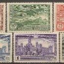 Sellos: ESPAÑA EDIFIL 614/619**/*/(*) UNIÓN POSTAL AMERICANA SERIE COMPLETA 1931 NL651. Lote 160709410