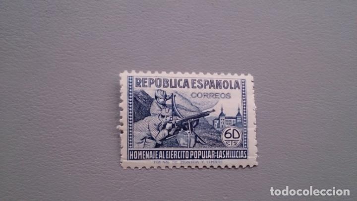 ESPAÑA - 1938 - II REPUBLICA - EDIFIL 796 - MNH** - NUEVO - CENTRADO - HOMENAJE AL EJERCITO POPULAR. (Sellos - España - II República de 1.931 a 1.939 - Nuevos)