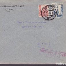 Sellos: CM1-18- GUERRA CIVIL CARTA VITORIA 1937. CENSURA . Lote 162124494